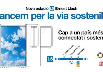La estación de Ernest Lluch se abrirá el 25 de julio